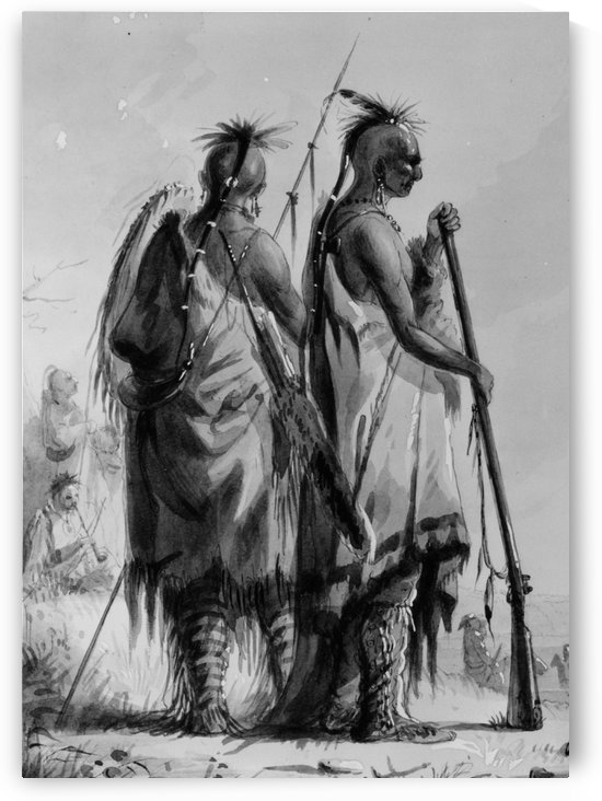 Plains Indian Shields by Alfred Jacob Miller