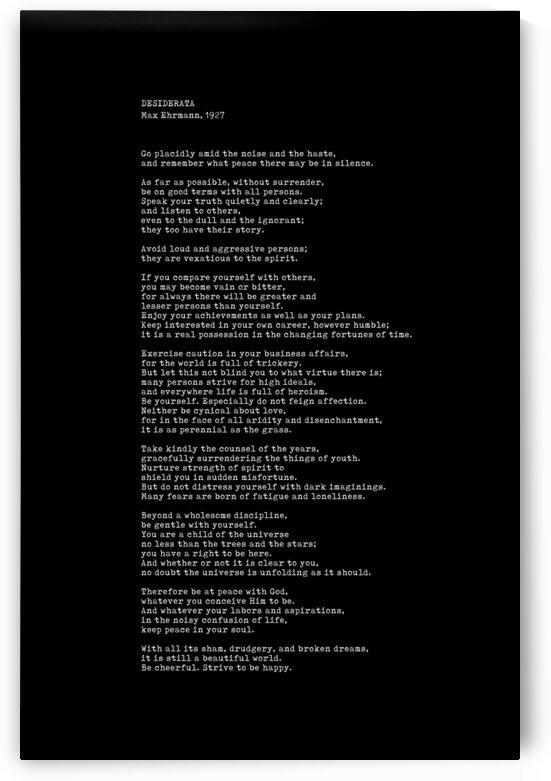 Desiderata by Max Ehrmann - Typewriter Print 2 - Go Placidly Poem by Studio Grafiikka
