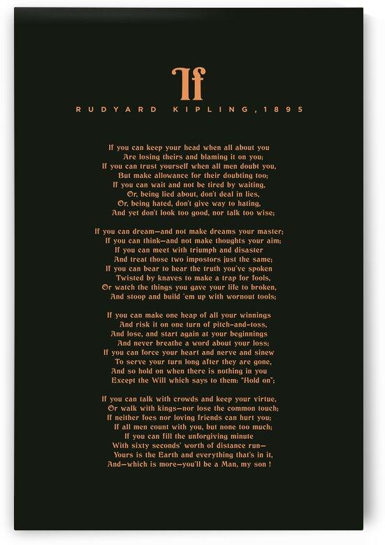 If by Rudyard Kipling - Typographic Print 2 by Studio Grafiikka