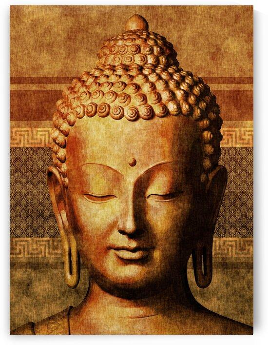 Buddha - Golden Tranquility  by Studio Grafiikka