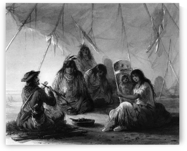 Indian hospitality by Alfred Jacob Miller