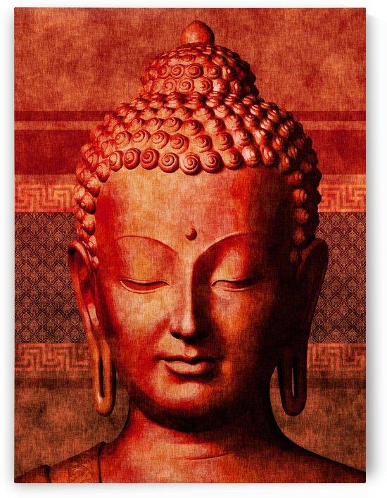 Buddha - Crimson Stillness by Studio Grafiikka
