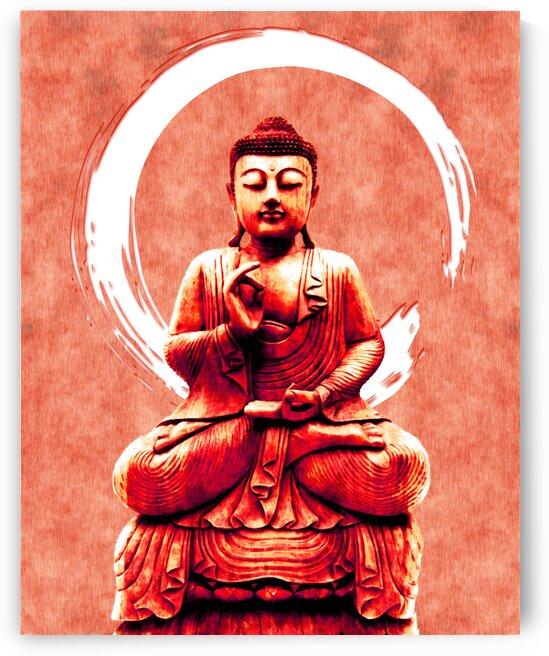 Abhaya Mudra 02 - Buddha in Meditation by Studio Grafiikka