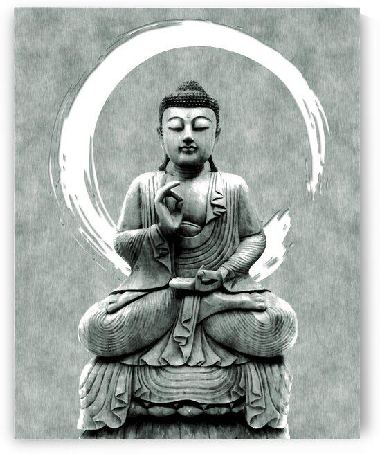 Abhaya Mudra 01 - Buddha in Meditation by Studio Grafiikka