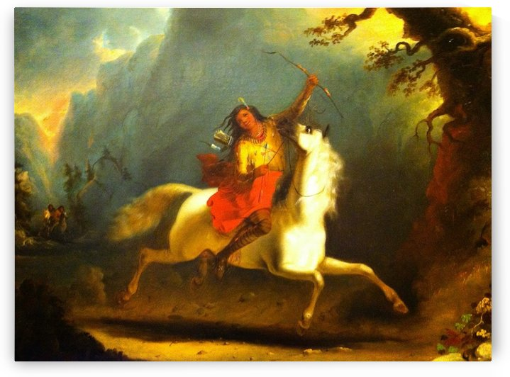 Crow Indian on Horseback by Alfred Jacob Miller