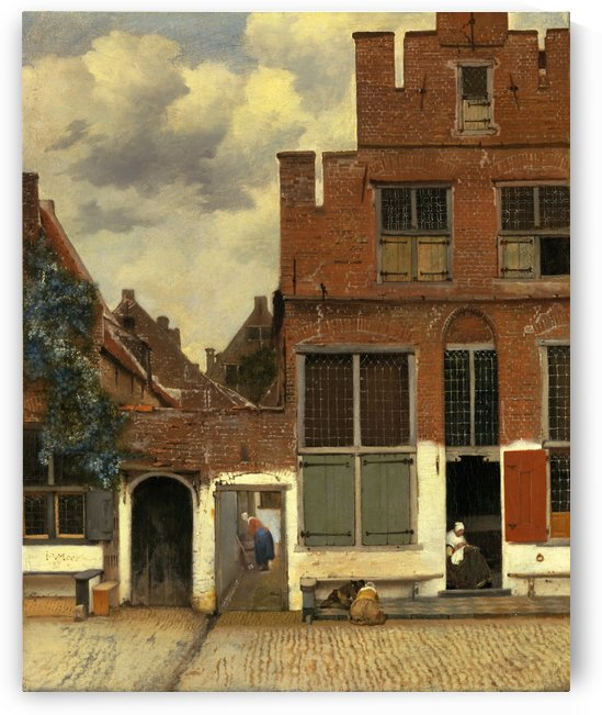 The little street by Vermeer by Vermeer