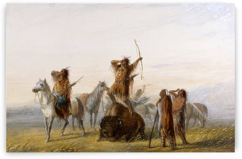 Yell of Triumph by Alfred Jacob Miller