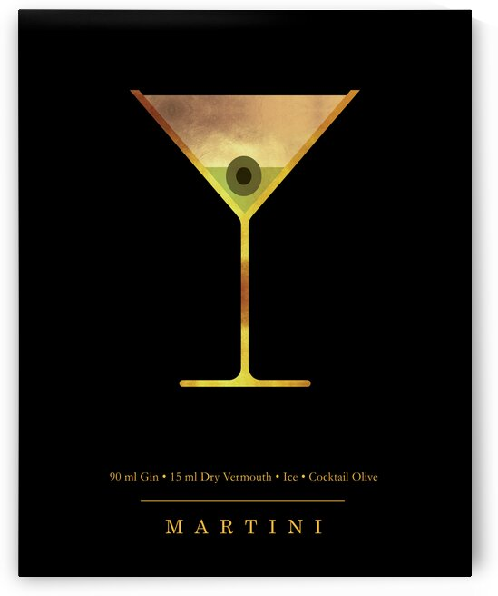 Martini - Classic Cocktail - Minimal Lounge Art by Studio Grafiikka