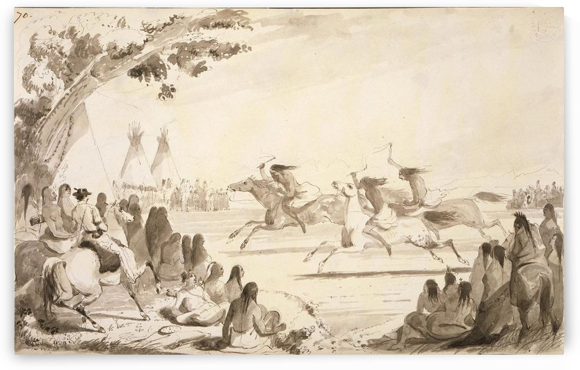Indian Race by Alfred Jacob Miller