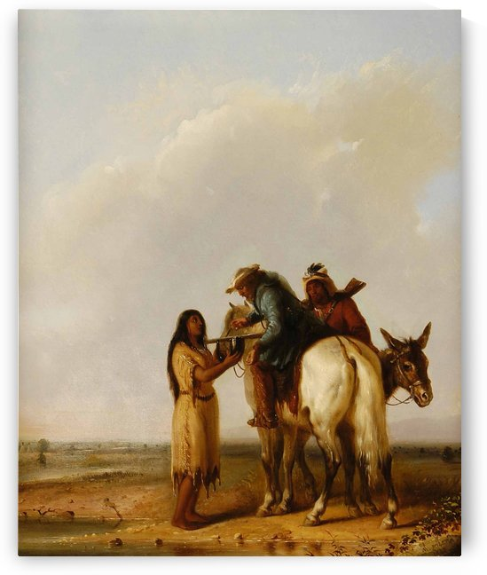 The Thirsty Trapper by Alfred Jacob Miller