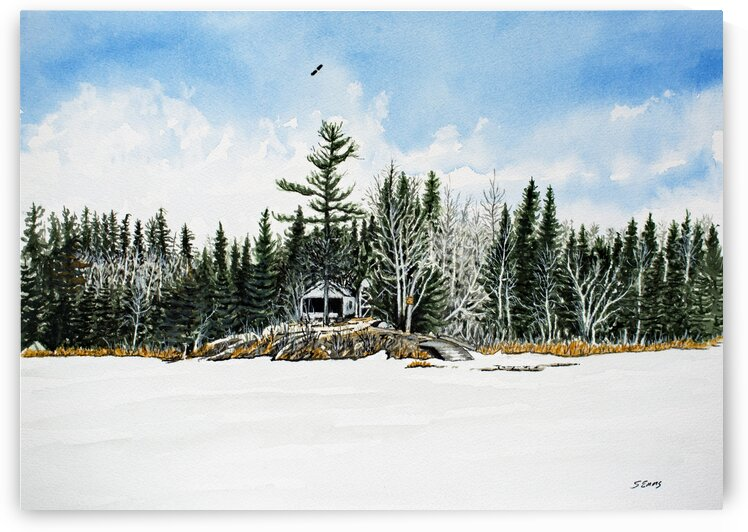 French Portage Cabin  by Stephen Emms