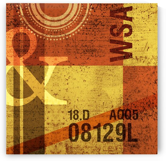 Contemporary Abstract Industrial Art - Panel 3 - Ampersand by Studio Grafiikka