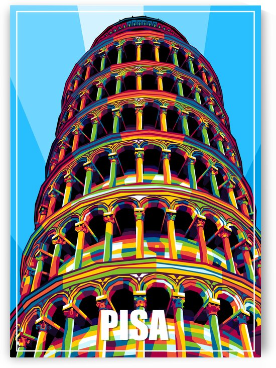 Leaning Tower of Pisa in WPAP by wpaprint