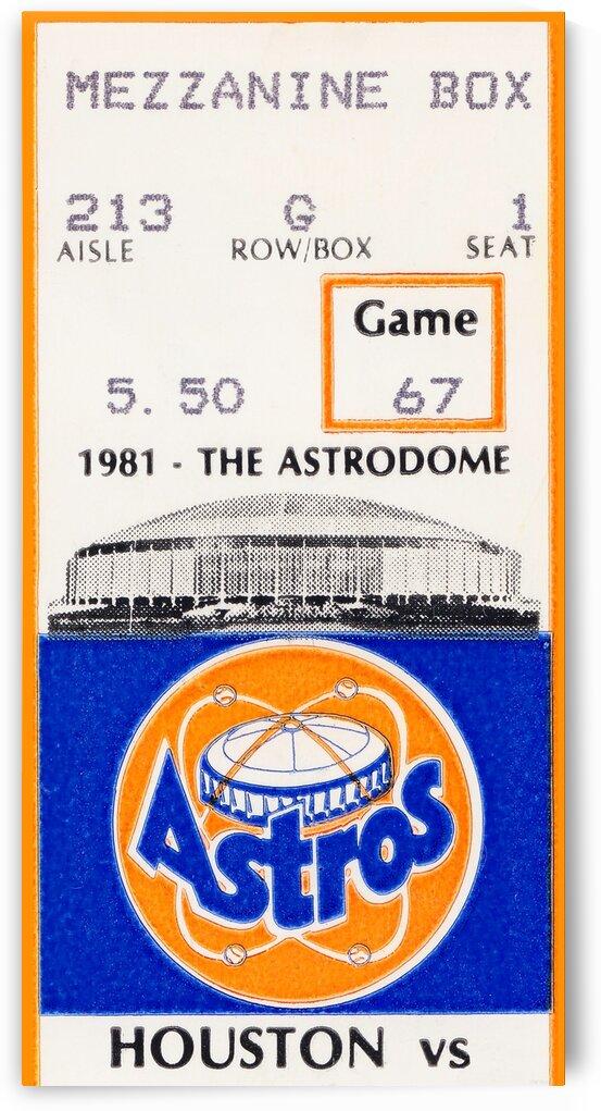 1981 Houston Astros Ticket Stub Canvas Art by Row One Brand