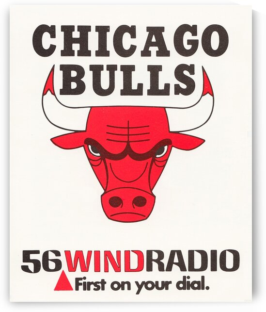 1977 Chicago Bulls WIND Radio Ad Poster by Row One Brand