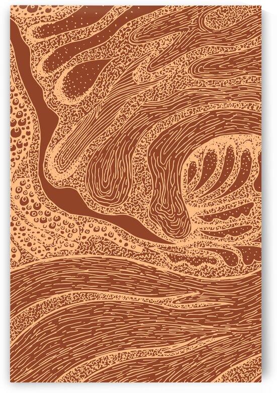 Intense Flow 1 - Contemporary Terracotta Abstract Art by Studio Grafiikka