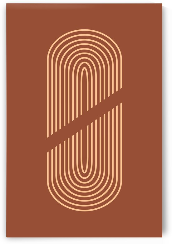 The Moment before Fusion 02 - Minimal Terracotta Abstract by Studio Grafiikka