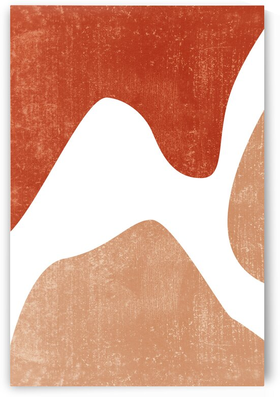 Winding Paths - Contemporary Minimal Abstract - Terracotta Shapes and Forms by Studio Grafiikka