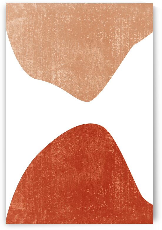 The Meeting Point - Contemporary Minimal Abstract - Terracotta Shapes and Forms by Studio Grafiikka