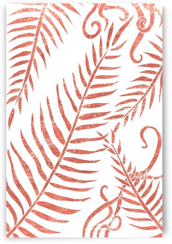 Terracotta Leaves 01 - Minimal Contemporary Abstract by Studio Grafiikka