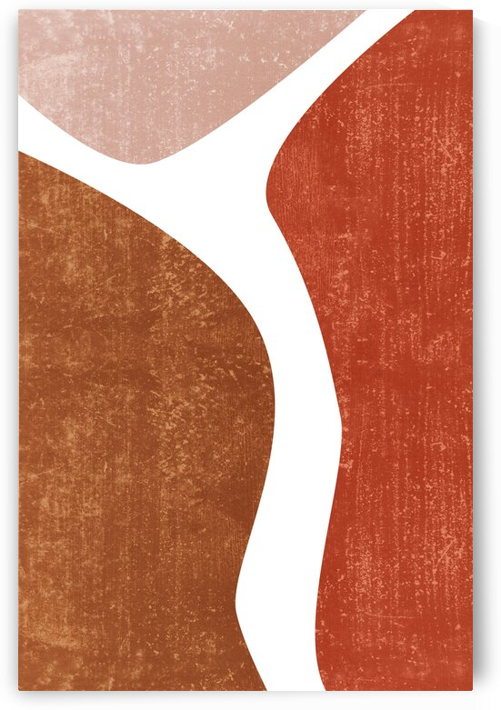 Terracotta Study 01 - Minimal Contemporary Abstract by Studio Grafiikka