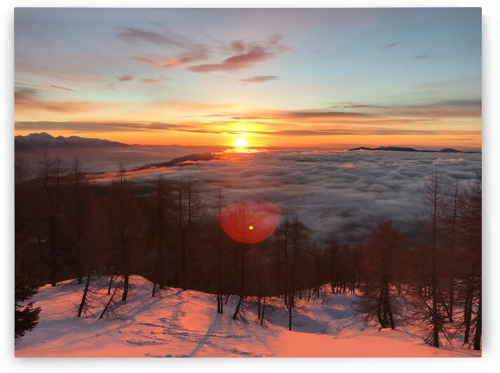 Sunrise in the clouds by 5280Images