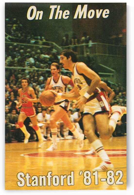 1981 Stanford University Basketball Poster by Row One Brand