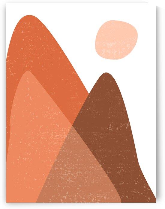 Sun Mountain - Minimal Abstract by Studio Grafiikka