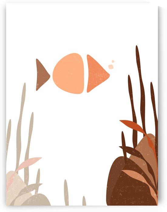 Underwater - Minimal Abstract - Brown by Studio Grafiikka
