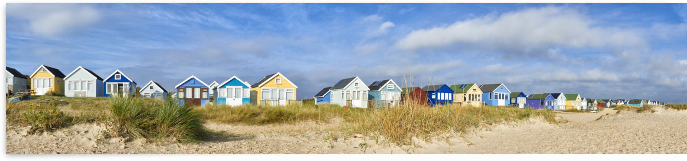 Beach Huts by Adrian Brockwell