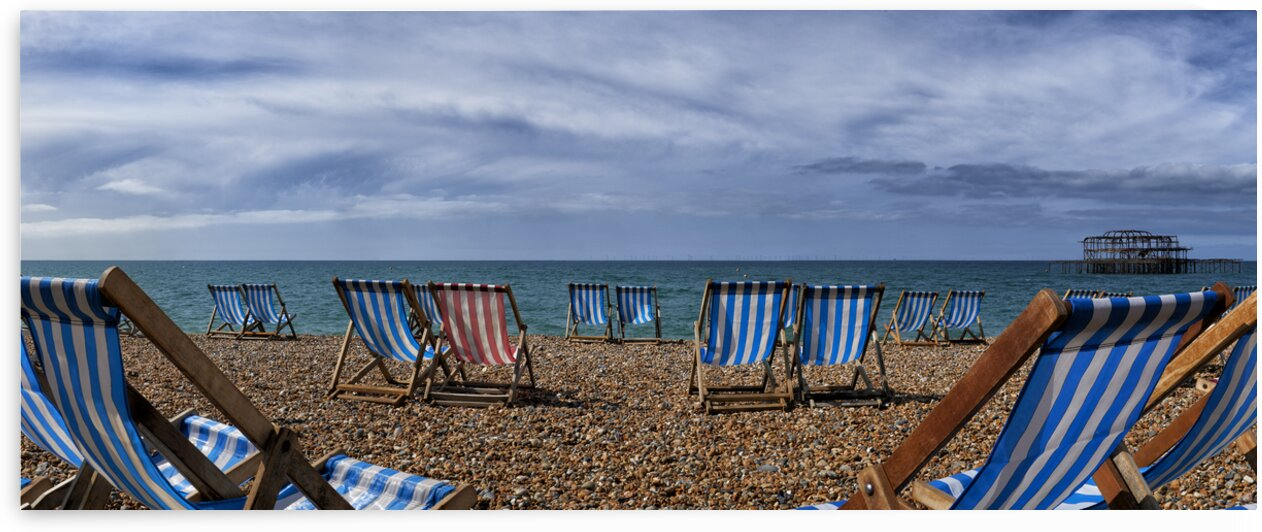 Deckchairs In Brighton by Adrian Brockwell