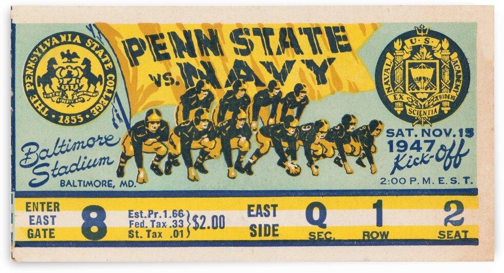 1947 Penn State vs. Navy Football Ticket Canvas by Row One Brand