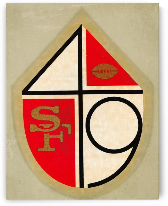 1970 San Francisco 49ers Canvas Art by Row One Brand
