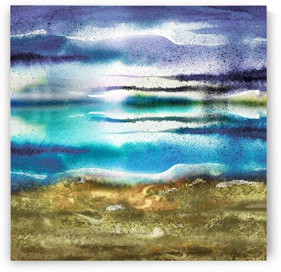 Beach Art Ocean Seascape Sea View Painting For Home Interior Decor I by Irina Sztukowski