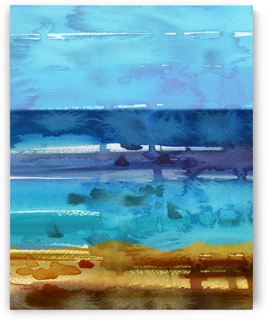 Beach Art Ocean Seascape Sea View Painting For Home Interior Decor II by Irina Sztukowski