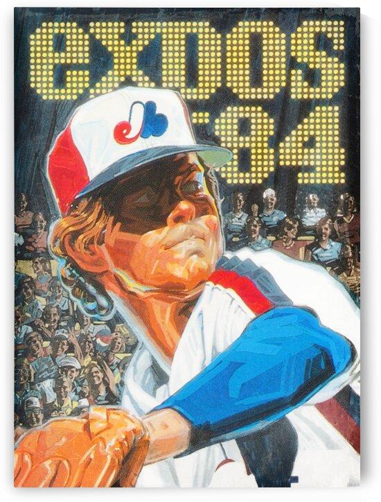 1984 Montreal Expos Baseball Art by Row One Brand