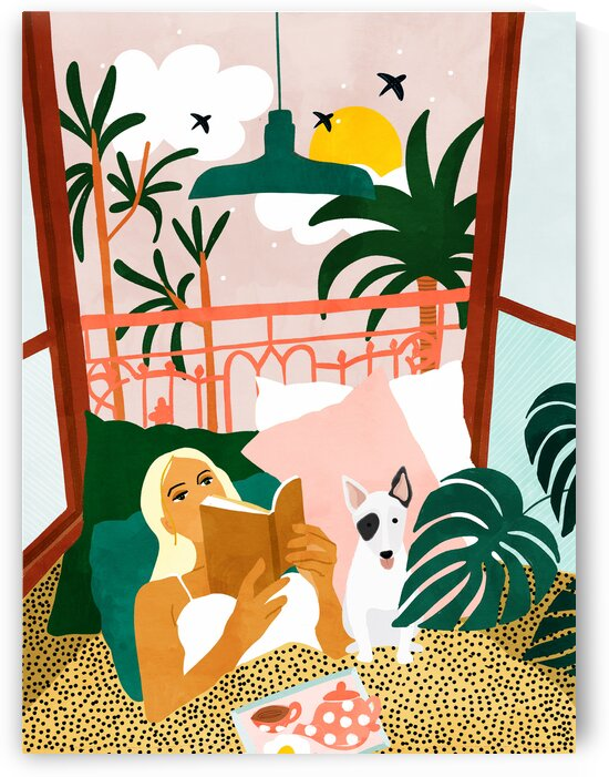 Pet Pals Animals Lovers Illustration Travel With Pets Modern Bohemian Painting  by 83 Oranges