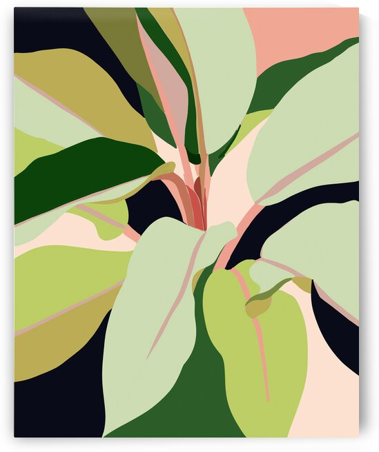 To Plant a Garden is to Believe in Tomorrow Tropical Modern Bohemian Colorful Pastel Illustration  by 83 Oranges