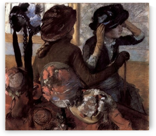 The milliner 1 by Degas by Degas
