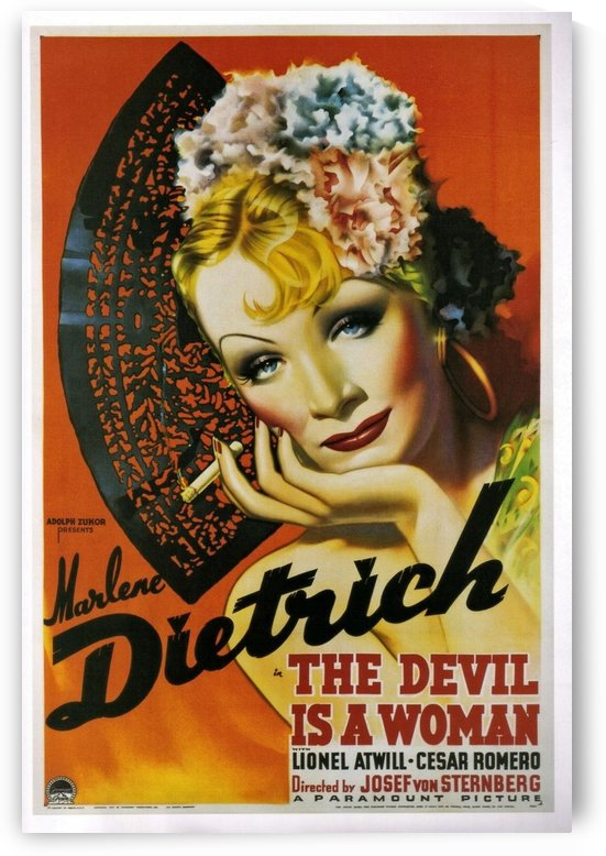The devil is a woman by VINTAGE POSTER