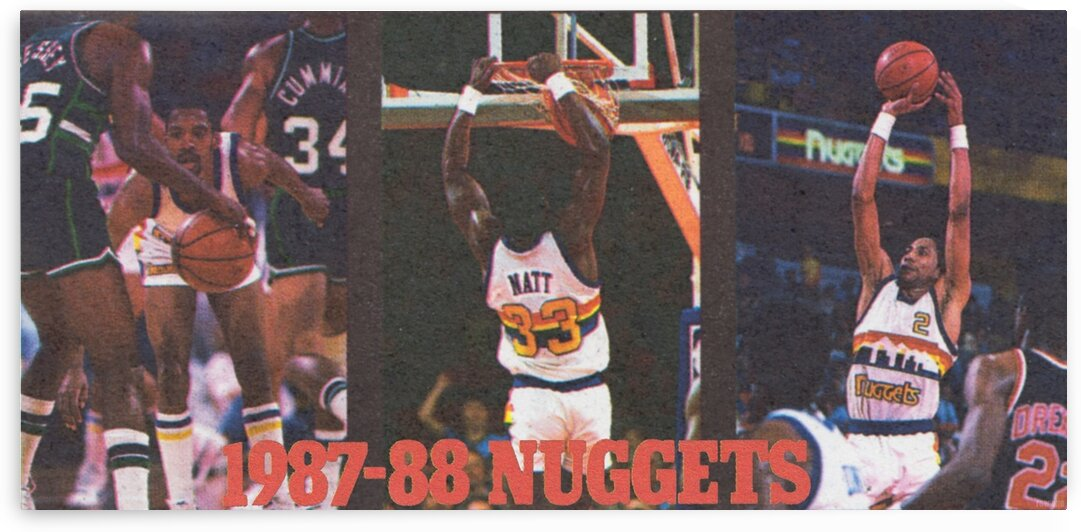 1987 Denver Nuggets Alex English Poster by Row One Brand