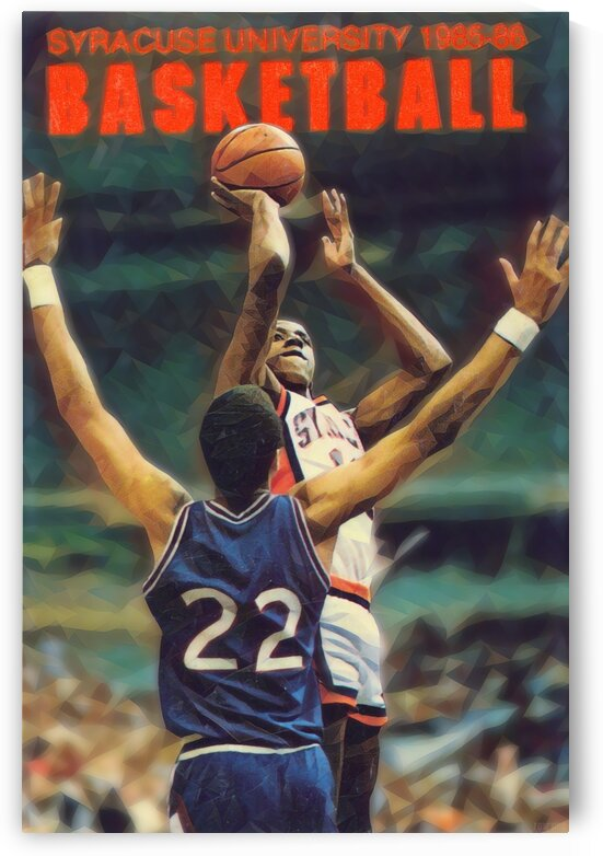 1985 Syracuse Basketball Art Poster by Row One Brand