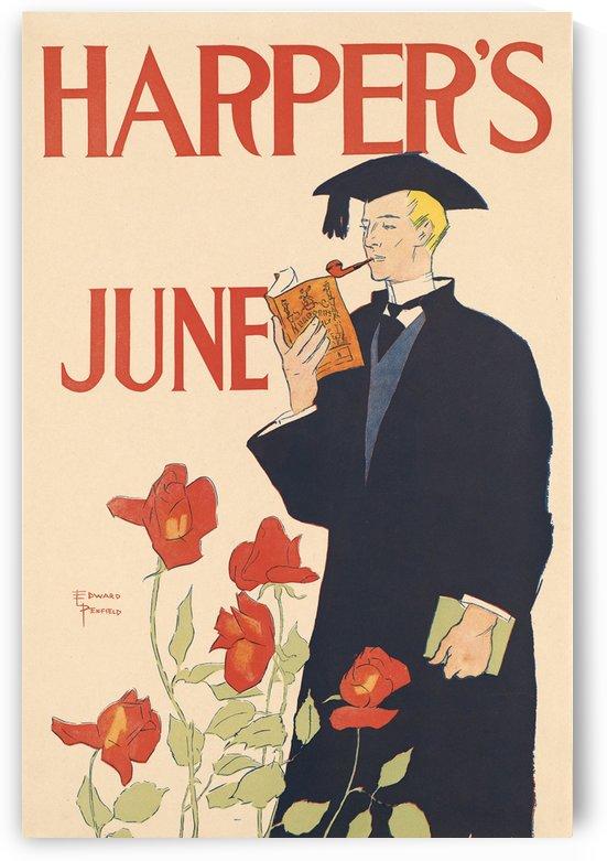Harpers June Flowers by VINTAGE POSTER