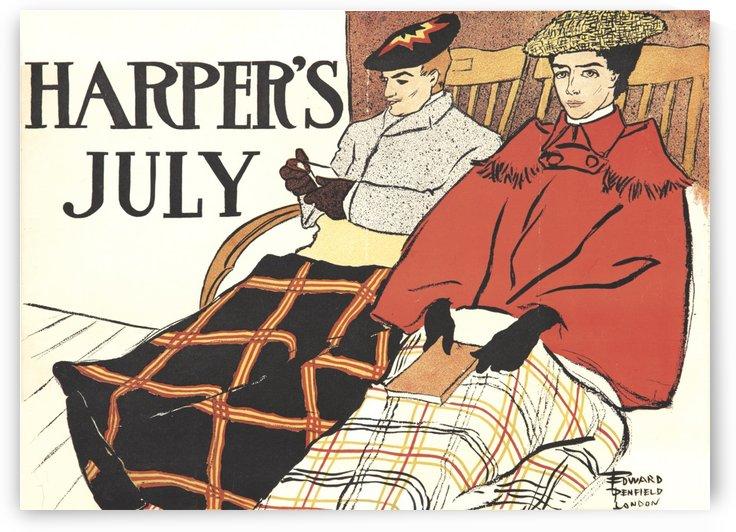 Harper's July by VINTAGE POSTER