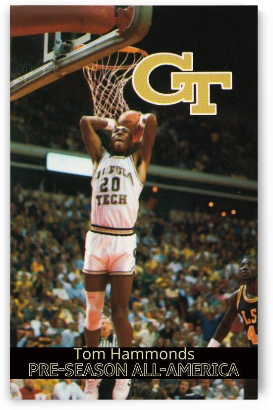 1988 Georgia Tech Tom Hammonds Poster by Row One Brand