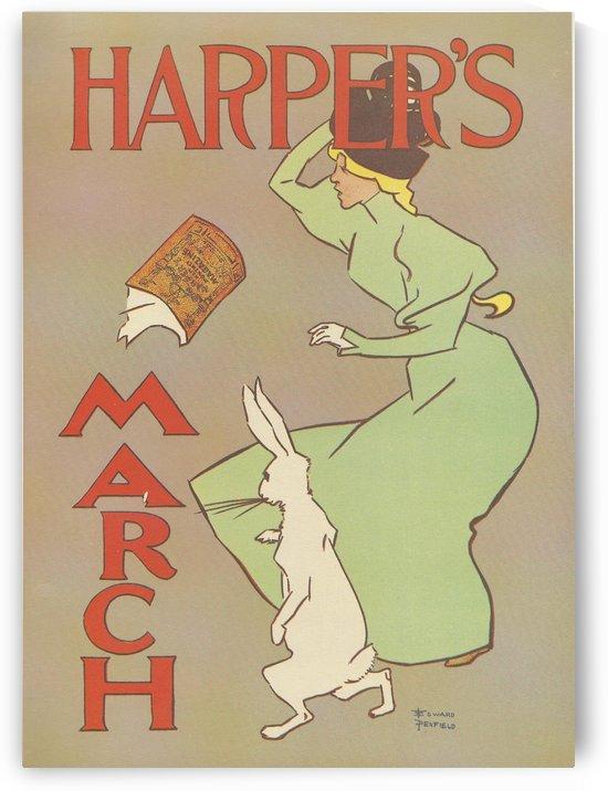 Harper's March Rabbit by VINTAGE POSTER