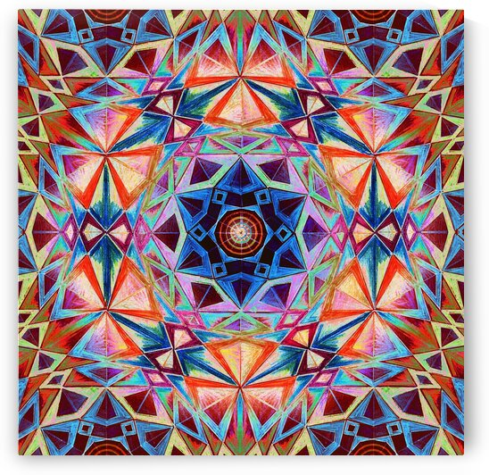 Star of David Kaleidoscope 3 by Tsveta Dinkova