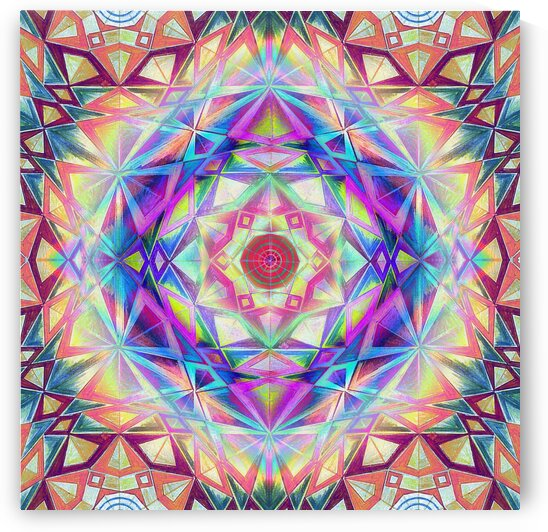 Star of David Kaleidoscope 4 by Tsveta Dinkova