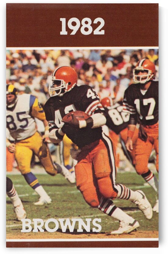 1982 Cleveland Browns Football Poster by Row One Brand