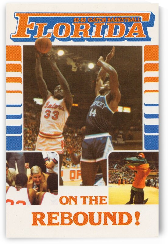 1982 Florida Gators Basketball Poster by Row One Brand